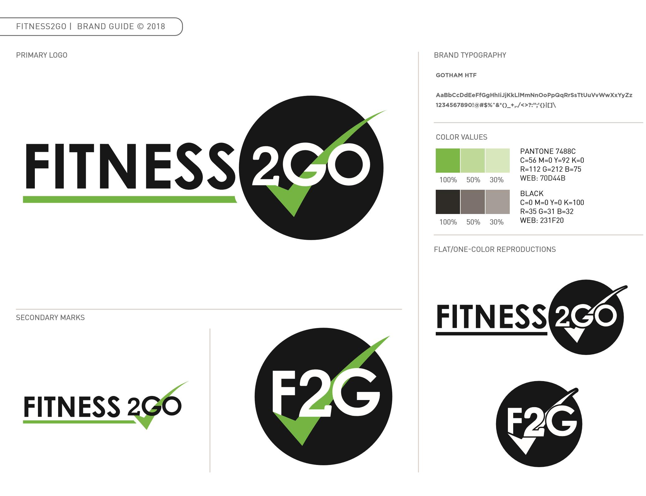 Fitness2Go Brand Guide
