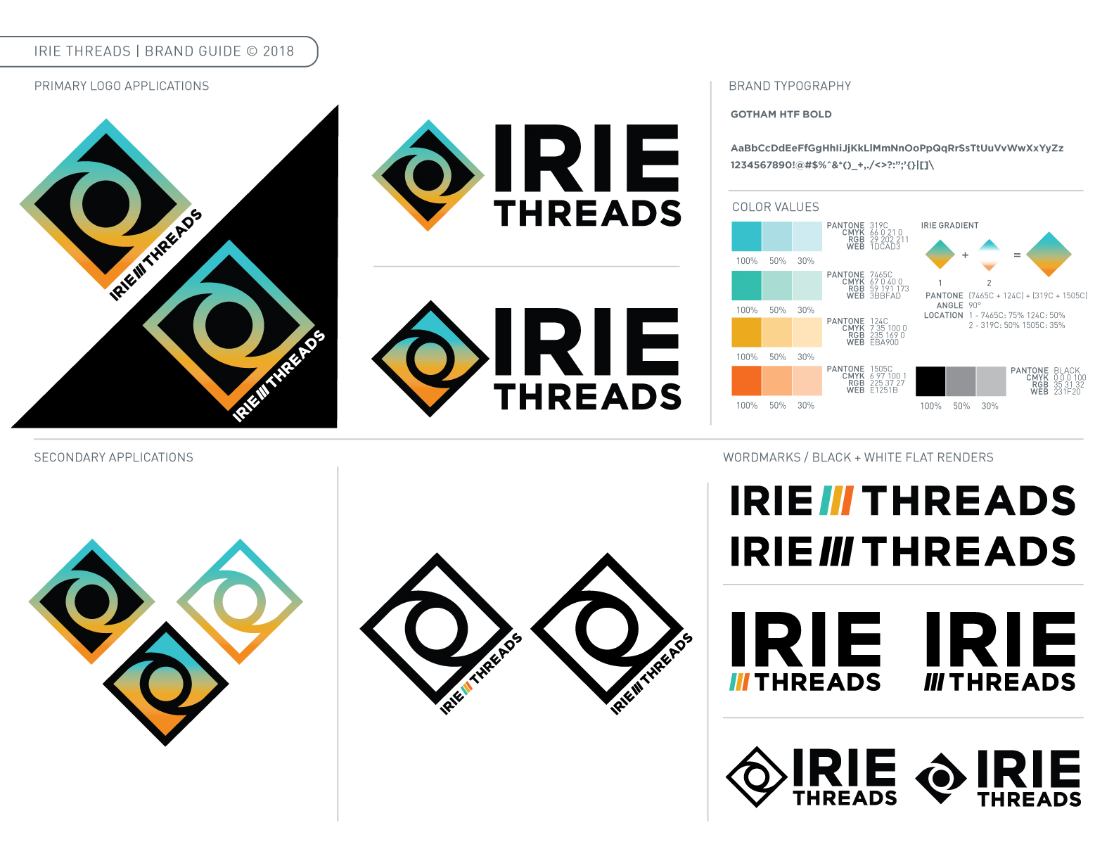 Irie Threads Brand Guide