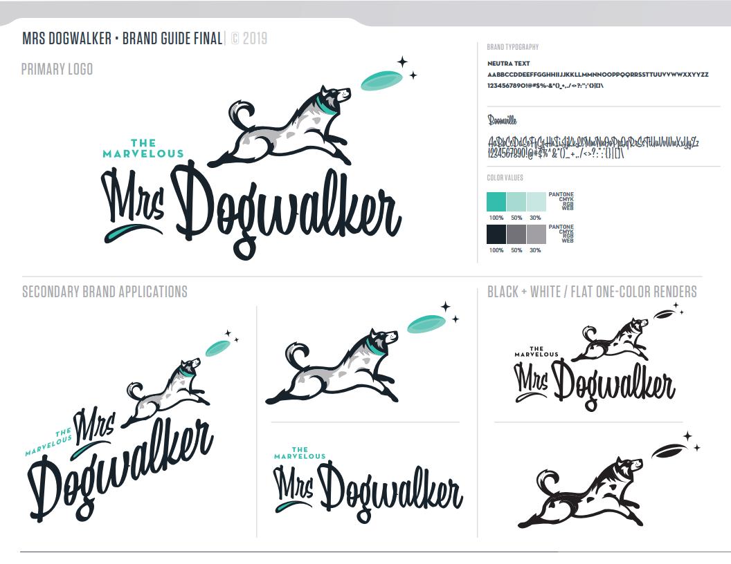 The Marvelous Mrs. Dogwalker Brand Guide