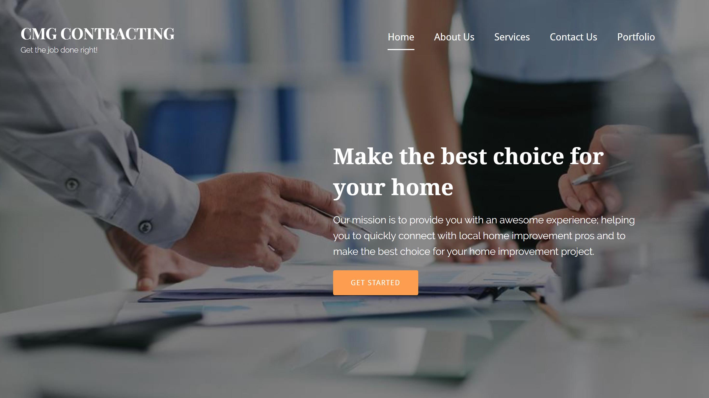 CMG Contracting Website