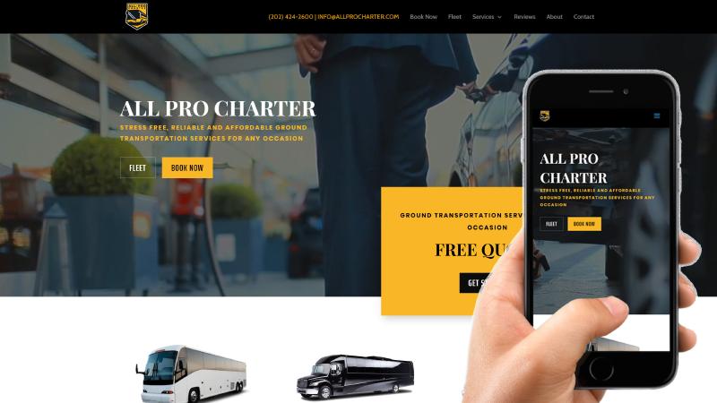 All Pro Charter Website